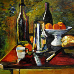"""overstockArt.com - Matisse - Still Life with Oranges - 20"""" X 24"""" Oil Painting On Canvas Hand painted oil reproduction of a famous and beautiful Matisse painting, Still Life with Oranges . Originally done in 1898, today it has been carefully recreated detail by detail, color by color to near perfection. Like Picasso, Matisse is known to be one of the foremost artists of modern times. After a short bout of illness, Matisse gave up the study of law to take up painting. He was one of the pioneers of Fauvism, a style utilizing vivid color for its sensual and decorative value. This work of art has the same emotions and beauty as the original. Why not grace your home with this reproduced masterpiece? It is sure to bring many admirers!"""