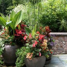 Outdoor Planters by A J Miller Landscape Architecture PLLC