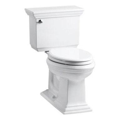 KOHLER - KOHLER Memoirs Stately Comfort Height Two-Piece Elongated 1.6 GPF Toilet - KOHLER K-3819-0 Memoirs stately Comfort Height two-piece elongated 1.6 GPF toilet with Class Five flush system in White