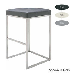 Nuevo Living - Chi Bar Stool, Set of 2, White - The ultimate in modern stool seating — bar none. Its sleek yet sturdy frame, with thick foam and Naugahyde-covered upholstery, makes for the ideal combo of comfort and style you want in your favorite setting.