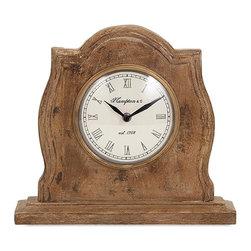"""Imax - Sammi Wood Table Clock - *Dimensions: 10.5""""h x 11""""w x 3"""""""