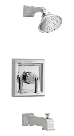 American Standard - Town Square Tub and Shower Faucet in Satin Nickel - American Standard T555.520.295 Town Square Tub and Shower Faucet in Satin Nickel.