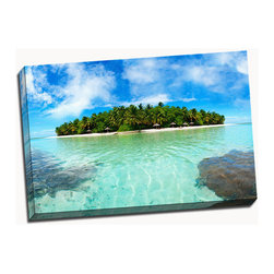 Picture it on canvas - Beach Series, Maldive Island - Vibrant photography captures the warmth and beauty of beaches across the globe while a stretched canvas gives the art a gallery presentation.