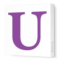 "Avalisa - Letter - Upper Case 'U' Stretched Wall Art, 18"" x 18"", Purple - Spell it out loud. These uppercase letters on stretched canvas would look wonderful in a nursery touting your little one's name, but don't stop there; they could work most anywhere in the home you'd like to add some playful text to the walls. Mix and match colors for a truly fun feel or stick to one color for a more uniform look."