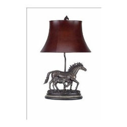 CAL Lighting - Cal Lighting BO-517 Mare Foal Table Lamp - Antique Bronze by Cal Lighting - 100W MARE & SIBLING TABLE LAMP