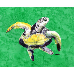 Caroline's Treasures - Turtle Dancing Fabric Standard Pillowcase Moisture Wicking Material - Standard White on back with artwork on the front of the pillowcase, 20.5 in w x 30 in. Nice jersy knit Moisture wicking material that wicks the moisture away from the head like a sports fabric (similar to Nike or Under Armour), breathable performance fabric makes for a nice sleeping experience and shows quality.  Wash cold and dry medium.  Fabric even gets softer as you wash it.  No ironing required.