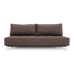 Sly Sleek Sofa-Sleeper, Innovation - Perfect seating and sleeping comfort embodied in an elegant design that allows it to be free standing in the middle of a room. The Sleek styling is what defines the relaxed casual character.