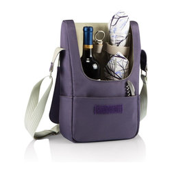 Picnic time - Barossa- One Bottle Deluxe Wine Tote- Aviano - The Barossa - Aviano is so sleek and sophisticated, you'll want to take it with you every chance you get. It's made of 150D polyester microfiber and features an adjustable shoulder strap that makes it easy to carry and a flat zippered pocket on the exterior flap. The Barossa - Aviano is fully insulated to keep your wine the perfect temperature and has a divided interior compartment to separate your bottle of wine from the 2 (8 oz.) PS wine glasses included. Included: