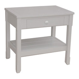 Tradewinds - Hand Painted Structured Lamp Table, Grey - Make an addition of this Cottage Lamp Table in your home which will definitely compliment your home decor. This table can be well utilized as a study table on which you can easily place a lamp for proper lighting. Your children will love this as a gift for them. This sturdy table is made of solid hardwood that is made from plantation grown and kiln-dried mahogany and mindi as well as premium hardwood veneers. This hand-painted structure is comprises of two broad sections that provide you ample space for keeping your articles in a safe manner. It is available in varied finish options from which you can select the suitable one for your interior decor. It is so beautiful to be admired by everyone who looks at it.