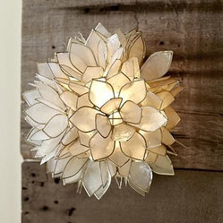 Capiz Flower Sconce