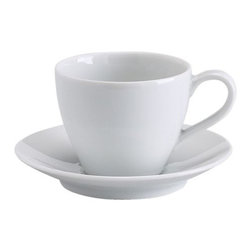 IKEA 365+ Coffee cup and saucer - Coffee cup and saucer, white