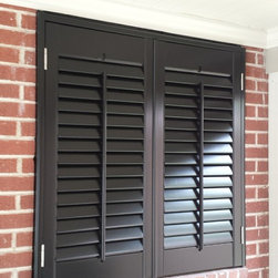 Recent Projects - Wood Plantation Shutters in black! Nick Nixon (Interior VUES)