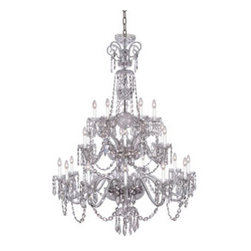 "Waterford Crystal - Waterford Crystal Ardmore Twenty Four Arm Chandelier 156286 - Waterford Ardmore 24 Arm Chandelier  -  A magnificent ceiling fixture, the Ardmore Twelve Arm Chandelier incorporates twelve gleaming candelabras each cradling a half-globe of fine crystal intricately detailed with cuts from the Ardmore pattern. Accented by drapes of cut crystal droplets, this radiant fixture brings a stunning diffusion of light and color to any room in the home.  -  Don't Buy From An Unauthorized Dealer  -  Genuine Waterford Crystal  -  Size: 69"" H x 47"" W  -  Fully Authorized U.S.Waterford Crystal Dealer  -  Brand New In The Original Waterford Crystal Box  -  Each Piece Is Checked 4 Times To Ensure It Arrives In Perfect Condition  -  Stamped With The Waterford Seahorse Symbol Of Excellence  -  Waterford Crystal Chandeliers Collection  -  Waterford Crystal UPC Number: 024258499690"