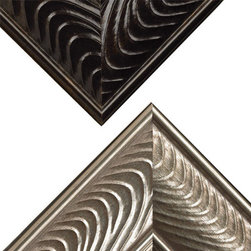 Venetian - One of over 60 styles available at mirrormate.com to frame bare, bathroom mirrors while still on the wall. Like a view of the sea, the waves of our Venetian moulding are a welcome addition to any décor. This flowing pattern's universal look creates a timeless elegance for your bath.