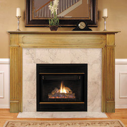 Williamsburg Fireplace Mantel - Frame your fireplace with the classic design of the Williamsburg Fireplace Mantel. The mantel features fluted side panels and raised accents under the shelf.