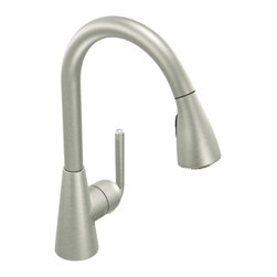 Moen - Moen S7170CSL Single Handle High Arc Kitchen Faucet - With its ultra-contemporary styling, the 90 Degree collection brings a sharp, clean look to the home.