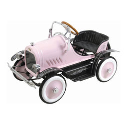 Pretty Pink Roadster Pedal Car - Your Little Driver Will Enjoy Cruising With Their Friends On This Vintage Roadster. Classic Detailing Designs And A Glossy Bodywork Finish Make This Stylish Roadster Turn Heads As Your Child Cruises Down The Street. This Deluxe Roadster Comes Complete With Working Headlights, Adjustable Windshield And A Spare Wheel.   Features:  *Recommended Age: 3+ *Maximum Rider Weight: 66 Lbs *Glossy Bodywork Finishing *Classic Body Striping *A Spare Wheel *Adjustable Windshield *Steerable Wheels *Working Headlights *Sturdy Metal Body *Vehicle Dimensions: 37.5X22X24 Inches *Vehicle Weight: 41 Lbs *Box Dimensions: 38X22X23 Inches *Box Weight: 49 Lbs *Warranty: 30 Days Parts Replacement *Shipped Insured! *Brand New!