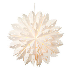Paper Snowflake Lantern - These paper snowflake lanterns will add an ethereal glow to any soiree.