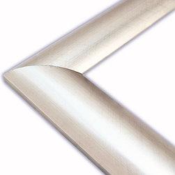 The Frame Guys - Round Brushed Silver Metallic Picture Frame-Solid Wood, 16x20 - *Round Brushed Silver Metallic Picture Frame-Solid Wood, 16x20
