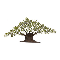 ecWorld - Urban Designs Tree of Harmony Large 92-inch Metal Wall Art Decor - As the olive tree is the international symbol of harmony, peace and victory; may this sculpture in metal bring tranquility wherever it hangs. Hand-finished by our Artisans sure to bring focal attention to a special area with its unique tree design.