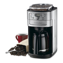 Cuisinart - Cuisinart DGB-700BC 12-cup Grind & Brew Automatic Coffeemaker - Enhance your kitchen decor with this 12-cup automatic coffeemaker. No need to worry about grinding your coffee beans separately,because this coffeemaker has a built in grinder and a brew/pause button when you need to sneak a cup before it finishes.