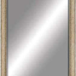 Paragon Decor - Beveled Mirror, Ridged Antiqued Gold, 24x36 - Mirror, Mirror, on the wall, who's the most beautiful mirror of them all? Reflect your impeccable taste with this contemporary-style mirror, which features a gorgeous ridged antiqued gold frame and high-quality interior beveled mirror. This piece measures 28 inches wide, 2 inches deep, and 40 inches high.