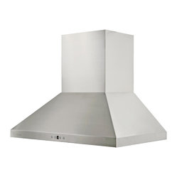 "Cavaliere - Cavaliere AP238-PSF 36"" Wall Mounte Range Hood - Cavaliere Stainless Steel 230W Wall Mounted Range Hood with 6 Speeds, Timer Function, LCD Keypad, Stainless Steel Baffle Filters, and Halogen Lights"