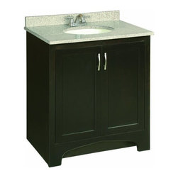 "DHI-Corp - Ventura Espresso Vanity Cabinet with 2-Doors, 30"" by 33.5"" - The Design House 539593 Ventura Espresso Vanity Cabinet updates your home with style and sensibility. The solid wood door frames are coated with a water resistant seal and an espresso finish. Satin nickel hardware, particle board side panels and concealed hinges complement the elegantly constructed wood. Add an additional shelf inside this cabinet for even more storage. Measuring 33.5-inches (H) by 21-inches (D) by 30-inches (W), this vanity fits in small to medium sized bathrooms while providing ample storage space. This product is CARB compliant, which means it adheres to the toughest production standards in the world for formaldehyde emissions (in wood composite paneling). Vanity top is not included with this product. The Design House 539593 Ventura Espresso Vanity Cabinet has a 1-year limited warranty that protects against defects in materials and workmanship. Design House offers products in multiple home decor categories including lighting, ceiling fans, hardware and plumbing products. With years of hands-on experience, Design House understands every aspect of the home decor industry, and devotes itself to providing quality products across the home decor spectrum. Providing value to their customers, Design House uses industry leading merchandising solutions and innovative programs. Design House is committed to providing high quality products for your home improvement projects."