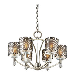 Trans Globe Lighting - Trans Globe 70116 AB Chandelier - Antique Brass - 27W in. - 70116 AB - Shop for Chandeliers from Hayneedle.com! Clean lines and graceful curves accentuate the retro appeal of the Transglobe 70116 AB Chandelier - Antique Brass - 27W in. creating an upscale ambience in your foyer living room or dining area. The square crystal accents add to this chandelier's distinct appearance while the antique brass finish with gold and black glass shades adds to its upscale appeal. The perfect choice for anyone who wishes to add a dash of drama to their home this 27-inch chandelier uses six 40-watt candelabra-base bulbs (not included).