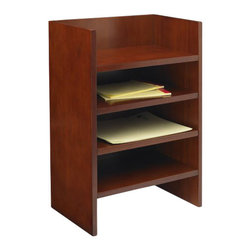 Mayline - Mayline Mira Letter Tray-Medium Cherry Veneer - Mayline - Storage Cabinets - MLTMC - Mira's simple curves create an elegant setting for any work environment. The finest quality workmanship in-stock availability and affordability make it a very popular series. Features: