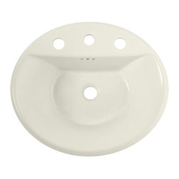 American Standard - Tropic Oval EverClean Countertop Bathroom Sink with 4 inch Faucet Centers - American Standard 0405004EC.222 Tropic Oval EverClean Countertop Bathroom Sink with 4 inch Faucet Centers in Linen.
