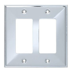 Liberty Hardware - Liberty Hardware 135878 Beverly WP Collection 4.96 Inch Switch Plate - Polished - A simple change can make a huge impact on the look and feel of any room. Change out your old wall plates and give any room a brand new feel. Experience the look of a quality Liberty Hardware wall plate.. Width - 4.96 Inch,Height - 4.9 Inch,Projection - 0.3 Inch,Finish - Polished Chrome,Weight - 0.17 Lbs