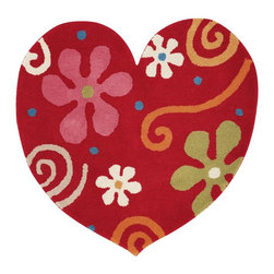 Dynamic Rugs - Dynamic Heart 1708-300 Red 3' x 3' Area Rugs - Dynamic Heart 1708-300 Red 3' x 3' Area Rugs