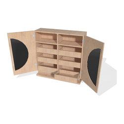 5 Pebbles, llc - Arrondi Dresser - The custom Arrondi dresser merges the convenience of a wardrobe cabinet with the organization of a dresser.