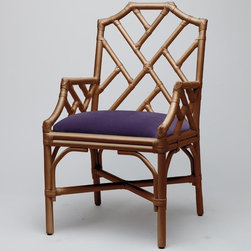 Made Goods Tori Armchair, Gold Bamboo - Occasional chairs in bedrooms (if you have the space) are essential, if you ask us. A classic piece like this can stand alone and is perfect for sitting down on to tie your shoes.