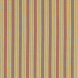 "Ballard Designs - Moroccan Stripe Fabric By the Yard - Content: 100% cotton. Repeat: Non-railroaded fabric, 2 1/2"" repeat. Care: Dry clean only. Width: 54"" wide. Brick red, black & cream stripes with faint yellow stripe accents woven in canvas-like 100% cotton. . Repeat: Non-railroaded fabric, 2 1/2"" repeat .  . Width: 54"" wide . Because fabrics are available in whole-yard increments only, please round your yardage up to the next whole number if your project calls for fractions of a yard. To order fabric for Ballard Customer's-Own-Material (COM) items, please refer to the order instructions provided for each product.Ballard offers free fabric swatches: $5.95 Shipping and Processing, ten swatch maximum. Sorry, cut fabric is non-returnable."