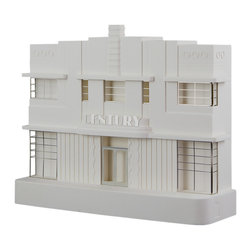 Chisel & Mouse - Century Hotel - Stunning beachfront façade has a vacancy! Handmade in England by witty model makers, the iconic Century Hotel is captured in plaster. You can admire the renowned art deco design, a classic example of the late '30s charming aesthetic, on mantels, shelves or desks.