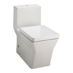 KOHLER - KOHLER K-3797-HW1 Reve Elongated One-Piece Toilet with Dual Flush Technology - KOHLER K-3797-HW1 Reve Elongated One-Piece Toilet with Dual Flush Technology in Honed White