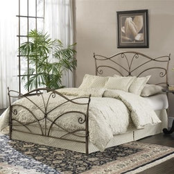 Papillon Bed - Just like a modern fairytale, the Papillion Bed is an updated take on tradition. This headboard has a stylized butterfly design with sleek finials. It is made of durable metal finished in modern brushed bronze. Matching footboard, rails, and frame sold separately.About Fashion Bed GroupFashion Bed Group is a Leggett and Platt Company known for its innovative fashion beds, daybeds, futons, bunk beds, bed frames, and bedding support. Created in 1991, Fashion Bed Group is a large consolidation of three leading bed manufacturers. Its beds are manufactured of genuine brass, plated brass, cast zinc, cast aluminum, steel, iron, wood, wicker, and rattan. Fashion Bed Group's products are distributed throughout North America from warehouses located in Chicago, Los Angeles, Houston, Toronto, and Ennis, Texas.
