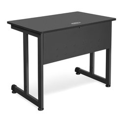 """OFM - OFM 36"""" Computer Table in Graphite - OFM - Computer Desks - 55139GRPT - Stylish computer table with grogeous table top. Featuring scratch-resistant powder-coated paint finish on durable steel base and frame this table is designed for long-term use."""