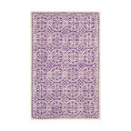 Safavieh - Zagora Hand Tufted Rug, Purple / Ivory 6' X 9' - Construction Method: Hand Tufted. Country of Origin: India. Care Instructions: Vacuum Regularly To Prevent Dust And Crumbs From Settling Into The Roots Of The Fibers. Avoid Direct And Continuous Exposure To Sunlight. Use Rug Protectors Under The Legs Of Heavy Furniture To Avoid Flattening Piles. Do Not Pull Loose Ends; Clip Them With Scissors To Remove. Turn Carpet Occasionally To Equalize Wear. Remove Spills Immediately. Bring classic style to your bedroom, living room, or home office with a richly-dimensional Safavieh Cambridge Rug. Artfully hand-tufted, these plush wool area rugs are crafted with plush and loop textures to highlight timeless motifs updated for today's homes in fashion colors.