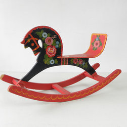 Vintage Russian Rocking Horse by Cathode Blue - A beautiful vintage 1960s child's rocking horse is perfect for a baby shower gift, or simply displayed as an objet d'art in a living room.