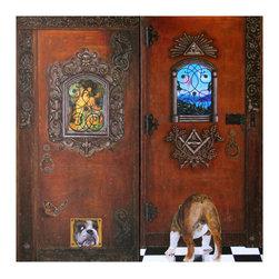 "Diptych ""The Guard"" - Acrylic on canvas, 36"" x 36"""