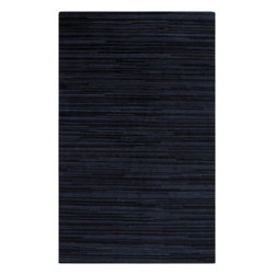 Surya - Gradience Collection Stripe Pattern Rug in Navy and Teal (2' x 3') - Very georgeous rug from the new collection arrived in a very awesome blue sapphire color. It is made of natural wool with hand-knotting technology. This beautiful Gradience Collection Stripe Pattern Rug in Navy and Teal will adorn any room and make your home stylish and elegant.    Features: