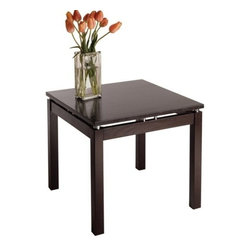 Winsome Trading, INC. - Winsome Wood 92723 Linea End Table - The stylish and unique design of this end table make it an attractive addition to any living room, while the broad, flat surface has many practical uses.