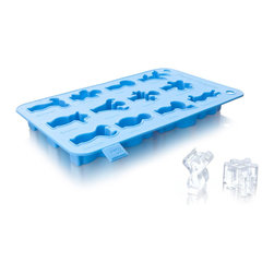 Vacu Vin Party People Ice Cube Tray Blue - The Party People from Vacu Vin are welcome guests at every party. With help from a silicone tray you can now make your own ice cubes  chocolates  jelly and cake shaped Party People. The tray is made of food approved silicone and is suitable for use in the oven  microwave or freezer and is easy to clean after use. In an easy and fun way you can now easily create your Party People. They are not just fun  but they are also delicious!Product Features                                   Create 12 unique Party People figures            Suitable for ice cubes  chocolates  jelly and cake            Made of food approved siliconel            Oven  microwave  freezer and dishwasher safe            Heat resistant up to 225 Degrees C (437 Degrees F)