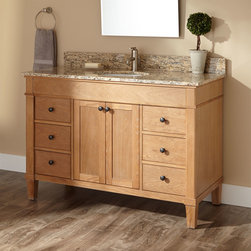 """48"""" Marilla Vanity for Undermount Sink - A casual, yet refined, design on the solid oak Marilla Vanity makes it a flexible choice for a wide range of style themes."""