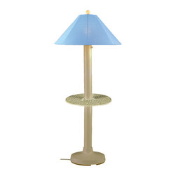"Patio Living Concepts - Patio Living Concepts Catalina 64 Inch Floor Table Lamp w/ 3 Inch Bisque Body & - 64 Inch Floor Table Lamp w/ 3 Inch Bisque Body & Sky Blue Sunbrella Shade Fabric belongs to Catalina Collection by Patio Living Concepts Carefree durability while adding a touch of style to any outdoor living area. Catalina Table Floor Lamp 39694 features a 3"" bisque body, 19"" diam. cast aluminum table, heavy weighted base and sky blue Sunbrella shade fabric. 12 ft. weatherproof cord and plug. Two level dimming switch. Model # 39694 Lamp (1)"