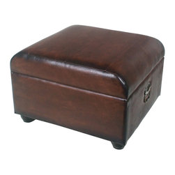 International Caravan - International Caravan Carmel Ottoman Trunk with Lid in Brown - International Caravan - Ottomans - YWLF2187BR - For over 44 years International Caravan has been one of the leaders in quality outdoor and indoor furniture. Using only the finest materials they bring skill craftsmanship and complete dedication to those who enjoy their furniture. You cannot go wrong with any of International Caravan's beautifully constructed pieces of furniture that are sure to be a focal point inside or outside of your home for years to come.