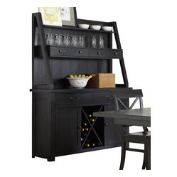 Liberty Furniture Sundance Lake Traditional Buffet w/ Hutch in Black